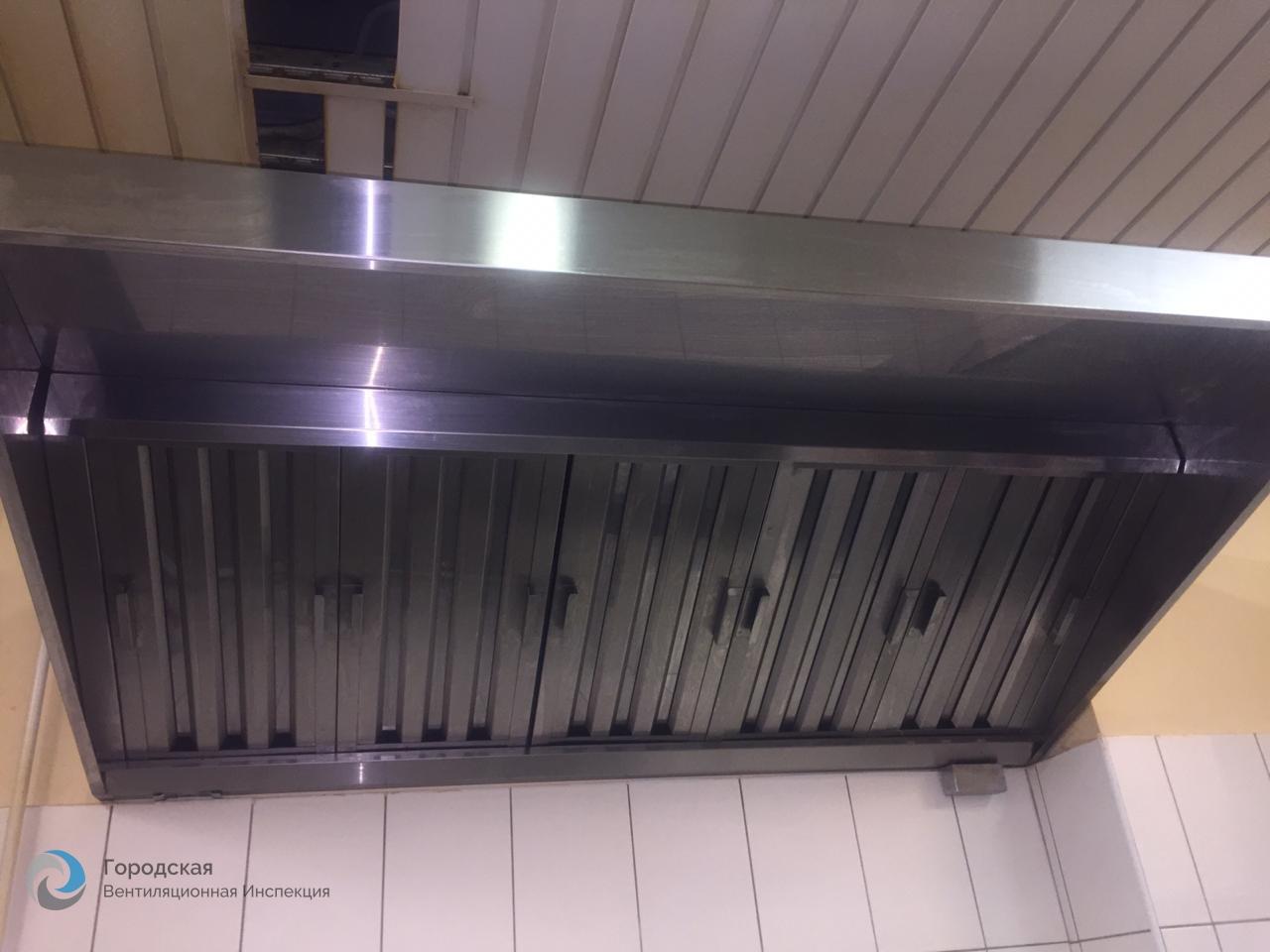 Очистка вентиляции в кафе «Чердак»